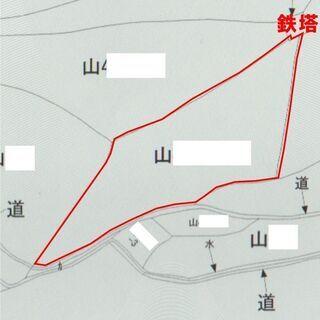 (再売り)三千坪 安佐北区小河原城前の山林 緑化公園の入り口あたり