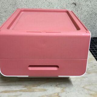 山善 オープンボックス 収納ケース ピンク 幅39cm×奥行46...