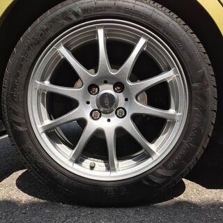タイヤホイールセット 205/50 16インチ 4穴 タイヤ傷な...