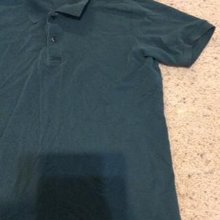ユニクロ 緑 男性 XL ポロシャツ