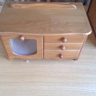 木製整理箱 ミニタンス 小物入 リモコン入 ペン立付