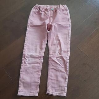 無料 GU ストレッチ パンツ ピンク ズボン 薄手 110cm