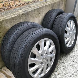 【美品】ブリヂストン 低燃費タイヤ  155/65R13  ★2...