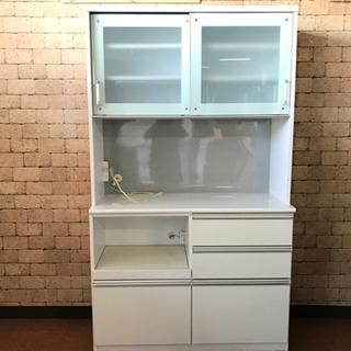S27 レンジボード W120 (WH) キッチン 収納 …
