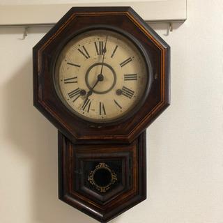 昭和レトロ 古時計 柱時計 アンティーク ヴィンテージ - 鯖江市