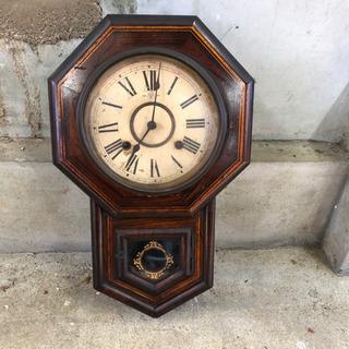 昭和レトロ 古時計 柱時計 アンティーク ヴィンテージ