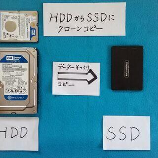 パソコンのHDDデーターをSSDにクローンコピーし、SSDをパソ...