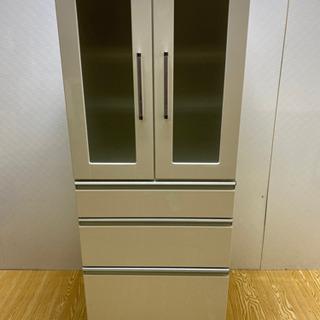 【ネット決済・配送可】stp-0835 食器棚 ホワイト 幅59...