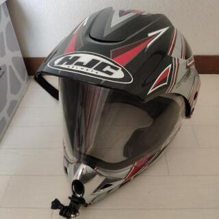 HJCモタードヘルメット Mサイズ GoProマウント付