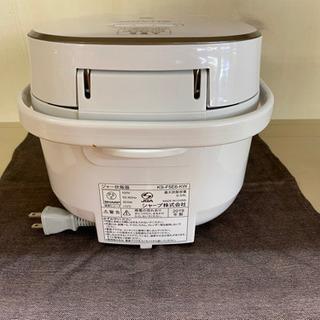 I389 SHARP 3合炊き炊飯器 ホワイト − 愛知県
