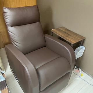 サロン リクライニングソファー棚セット