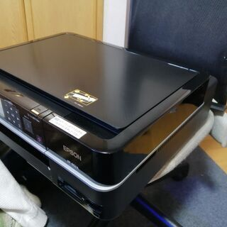 ②EPSON  EP802A 黒ブラック 本体と電源ケーブル  中古 美品 非常に綺麗と思います。 動作品 - パソコン