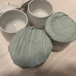 【未使用】茶碗蒸し用陶器セット白おしゃれ
