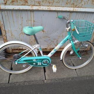 20インチ自転車、緑系