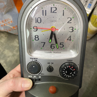 懐中電灯 時計 ラジオ 一体物 - 家電