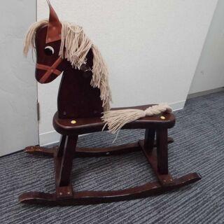 JM10547)馬の玩具 おもちゃ 木馬 幅:約24,5cm 高...
