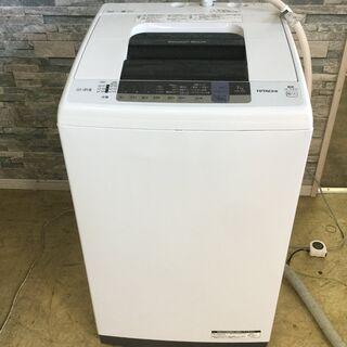 [高年式]HITACHI 日立 全自動電気洗濯機 白い約束…