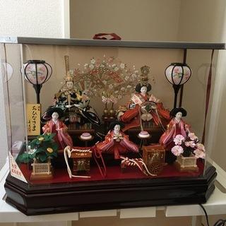 【ネット決済】雛人形(ガラスケース入)
