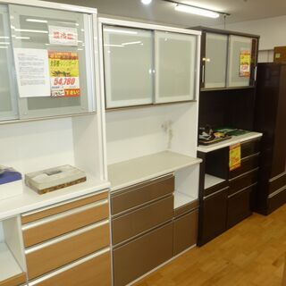 k212☆ニトリ☆食器棚・レンジボード☆幅1000㎜☆近隣配達、設置可能 - 売ります・あげます