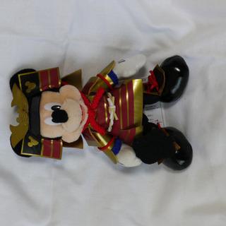 ミッキー五月人形ぬいぐるみバッヂ
