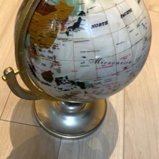 天然石の地球儀