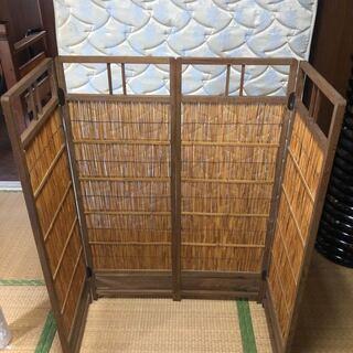 21W01-08:衝立 パーテーション 屏風 簾戸 建具 和建具...