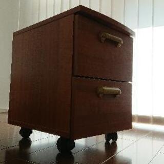 デスク下用引き出し棚(キャスター付き) 木製