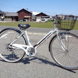 CASULY 婦人用自転車 27インチ 6速 白 2 (103)