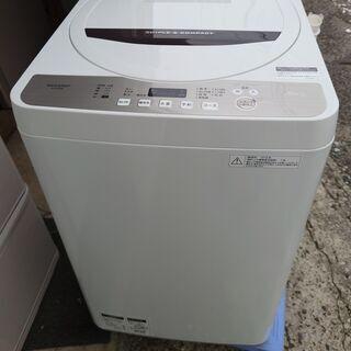 【中古】シャープ 洗濯機 4.5kg洗い ES-GE4B 2018年製