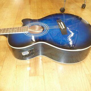 k213☆アコースティックギター☆Sepia Crue☆青☆ケース付き☆良品 - 楽器