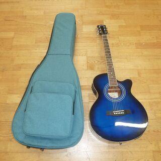 k213☆アコースティックギター☆Sepia Crue☆青☆ケース付き☆良品 − 愛知県