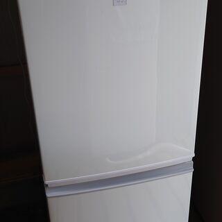【中古】シャープ 冷蔵庫 SJ-14E5-KW㉛