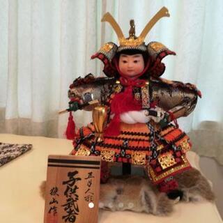 【美品】狭山作 五月人形 子供武者 人形