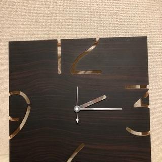オシャレ 木製壁掛け時計