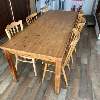 ダイニングテーブル 椅子6個セット
