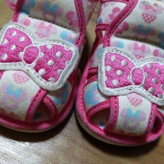 ベビー靴/12.5センチ/サンダル/ミニーちゃん