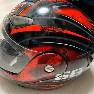 値下げ不可YOHE ヘルメット フルフェイス システムヘルメット 赤×黒 size S 55-56 中古 - 大阪市