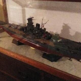 日曜日まで❗戦艦大和 ガラスケース模型 1m超え 只今