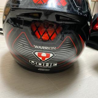 値下げ不可YOHE ヘルメット フルフェイス システムヘルメット 赤×黒 size S 55-56 中古 − 大阪府