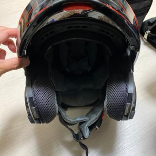 値下げ不可YOHE ヘルメット フルフェイス システムヘルメット 赤×黒 size S 55-56 中古 - 売ります・あげます
