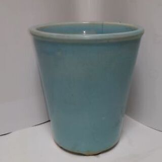 植木鉢 薄い水色