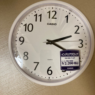 【ほぼ新品】カシオの掛け時計