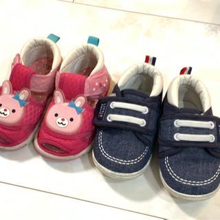 子供靴 ベビーシューズ 笛付きサンダルとスニーカー 2足セット
