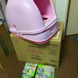 猫 デオトイレ セットの画像