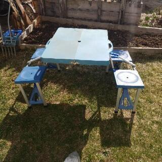レジャー用簡易テーブル 差し上げます