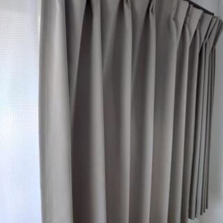 オーダーカーテン② 幅190cm 丈115cm サンドベー…