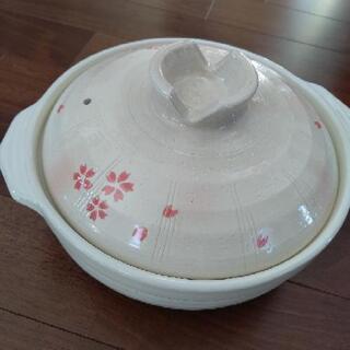 値下500円  土鍋  3~4人用