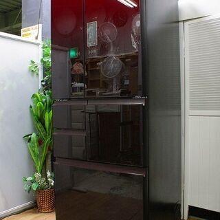 hシャープ 6ドア冷凍冷蔵庫 502L プラズマクラスター 電動...
