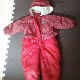 NORTH FAY 子供用ジャンプスーツ 90センチ 赤