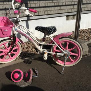 子ども用自転車 女の子 補助輪付き